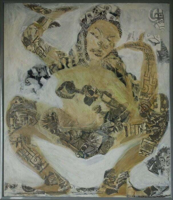 Indian dancer - 80x80cm