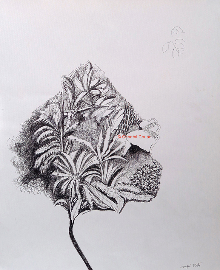 Leaves & Tree 50x65 cm