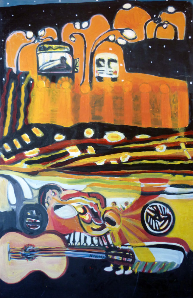 Car ride - 120x50cm - Acrylic