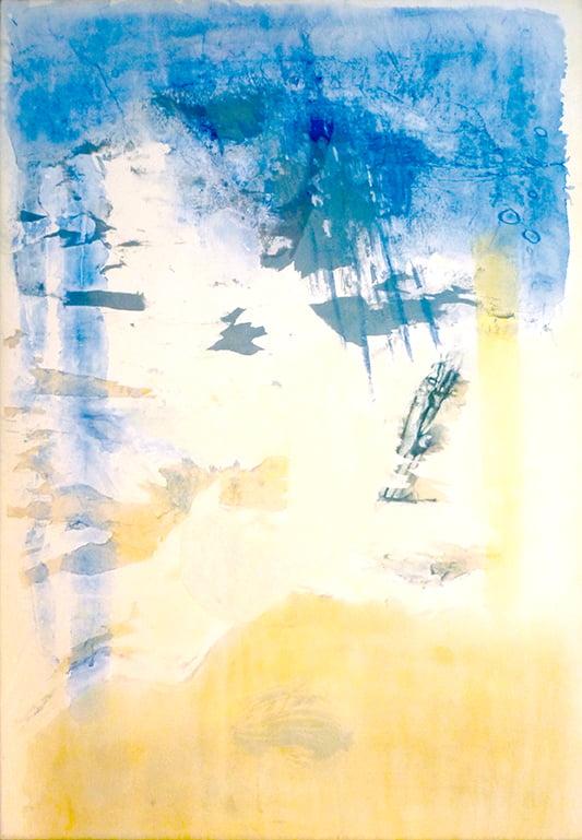Between blue & yellow 120x80cm - 1994