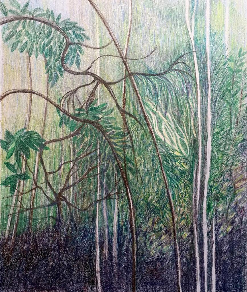 Big tropical night forest-75x93cm