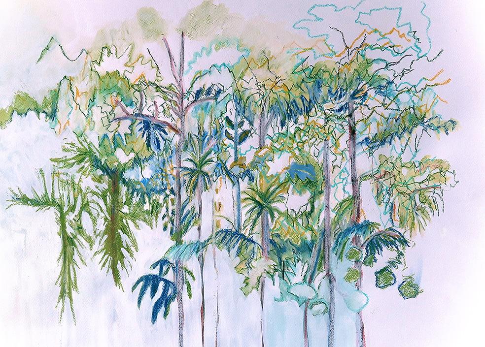 Green Foliage 50x40cm